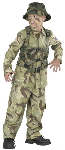 Shirt Army Adult Costumes (Big Boys Delta Force Army Costume Medium (8-10))