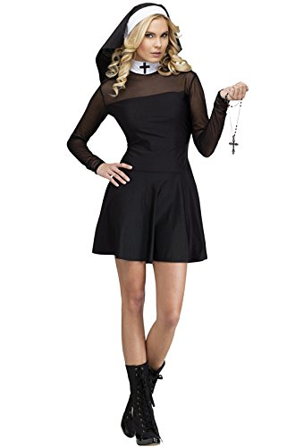 Fun World Costumes Women's Sexy Sister Adult Costume, Black, Medium/Large -