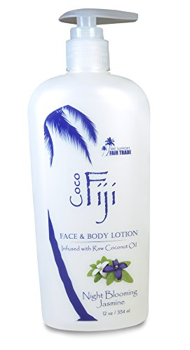 Coco Fiji Coconut Oil Infused Face & Body Lotion, Night Blooming Jasmine - Lotion Body Jasmine Miracle