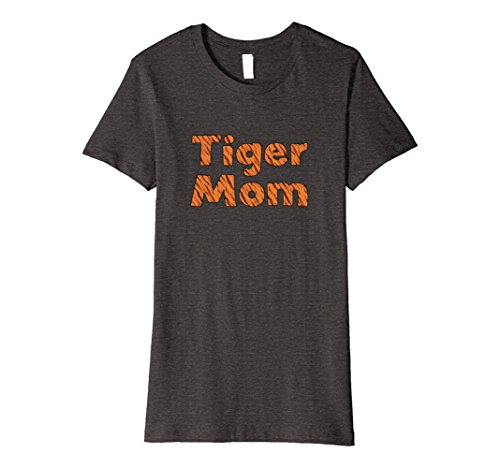 Womens Tiger Mom Premium T-Shirt Medium Dark Heather