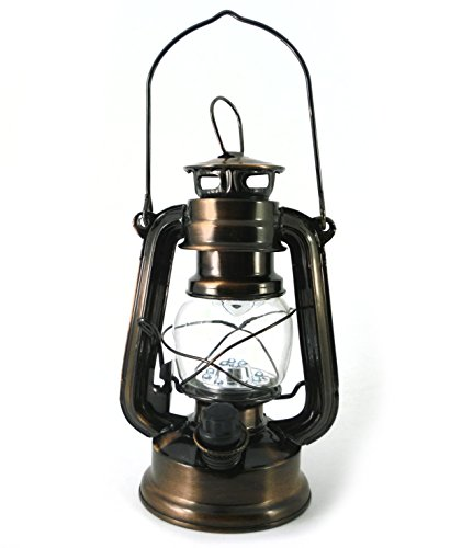 PK Green LED Hurricane Lantern, Dimmable 19cm Lamp ()