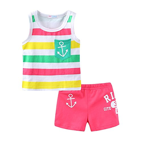 Mud Kingdom Cute Toddler Girl Outfits 3T Hot Pink Sailor -