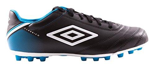 Umbro Classico V Bota AG, Hombre negro / blanco / azul (diva blue)