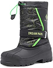DREAM PAIRS Boys Girls Knee High Winter Snow Boots