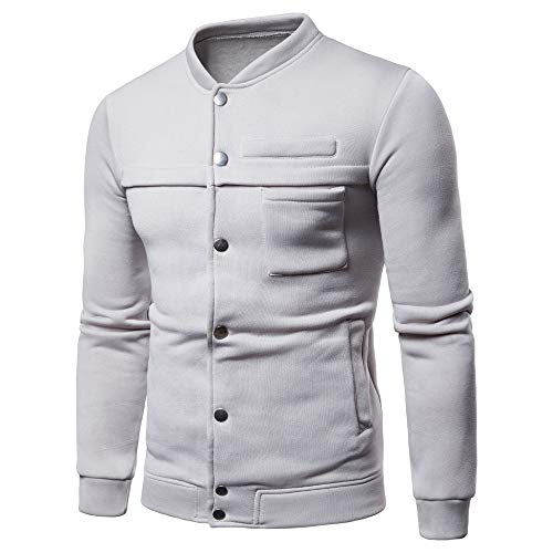 - Long Sleeve Hooded Sweatshirt Men Pure Color Pullover Tops Blouse