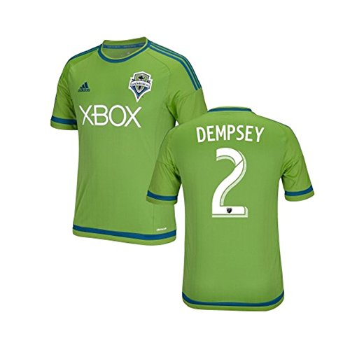 Dempsey #2 Seattle Sounders Home Soccer Jersey 2015 YOUTH. (YS)