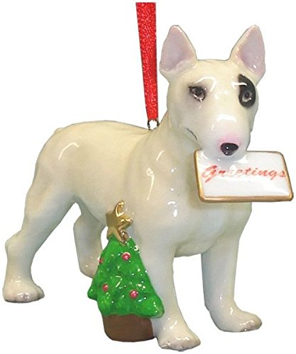 UPC 738283045707, Cute Christmas Holiday Bull Terrier Ornament Statue Figurine