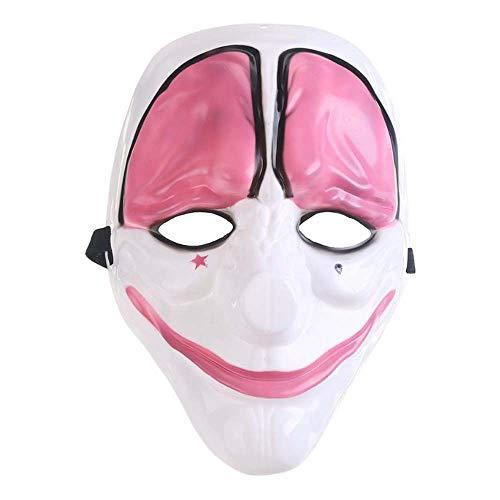 Masquerade Party Costume Halloween Cosplay Costume Clown Joker Festival Mask (Red Head)
