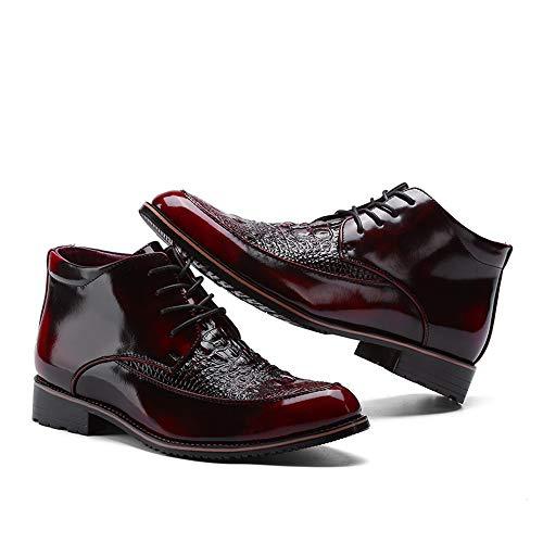 Caballeros Black los los Jusheng EU los de de Hombres Oxford para Moda de 41 Warm Formales High tamaño de del Top Vendimia Rojo la Informal Zapatos Calientes Color algodón qSptwrtIO