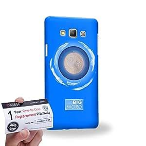 Case88 [Samsung Galaxy A7] 3D impresa Carcasa/Funda dura para & Tarjeta de garantía - Art Fashion Azure Humor Inspiration