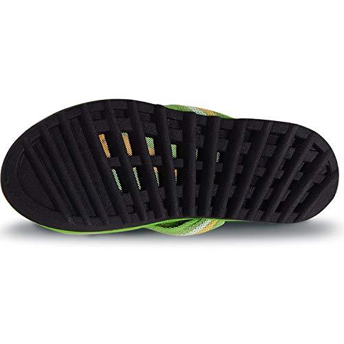 Plage Fuxitoggo de Flip 37 Stripe Flat EU Chaussures Flops Femmes Vert coloré Clip Toe Vert Taille zrzwHqx8