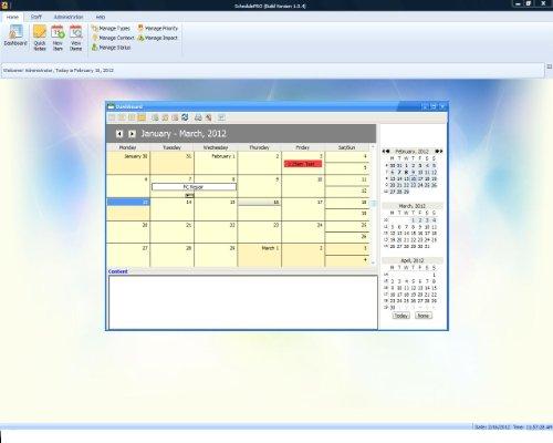 SchedulePro Project Management and Scheduling Software; Calendar Software, Windows PCs (Program Calendar)