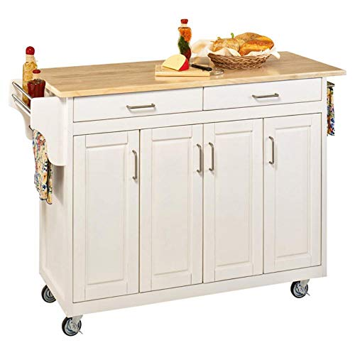 Home Styles 9200-1024 Create-a-Cart 9200 Series Cabinet Kitchen Cart with Black Granite Top, White Finish ()
