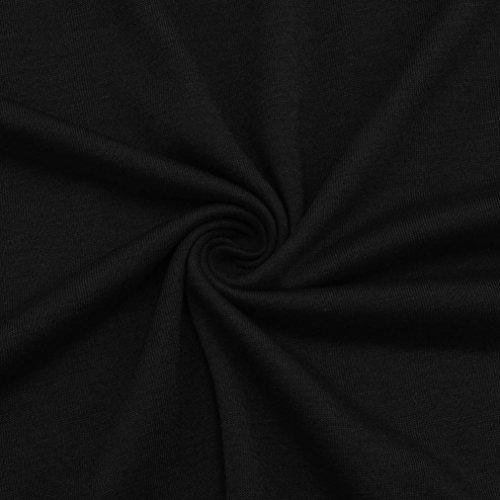 Top Femmes Sexy Pull Chic T Chemise Casual Longue Tunique paule Tee Couleur URSING Chemisier Shirt Unie Blouse Tops Bateau Col Haut Haut Lache Dcontracte Manche Nue Noir Shirt 7aw4xdq