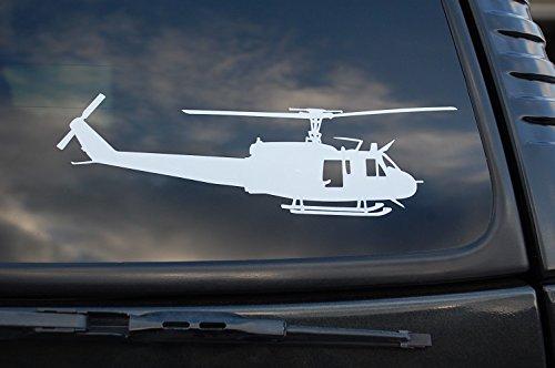 Huey Helicopter Vinyl Sticker Pilot Wall Art Deco Car Window Choose Size (V419) (8