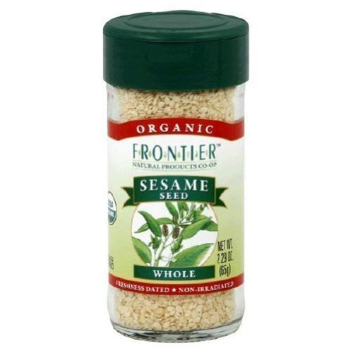 Frontier Sesame Seed Hulled Whole Certified Organic 2.32 OZ (Pack of 9)