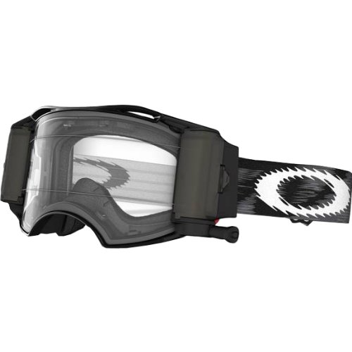Oakley Airbrake MX Goggles with Race Ready Roll-Off System (Jet Black Speed Frame/Clear Lens) by Oakley