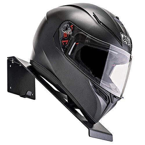 BESTUNT Helmet Hanger | for Motorcycle Holder Shelf Rack Storage Fixation | Mount on Wall (Black)