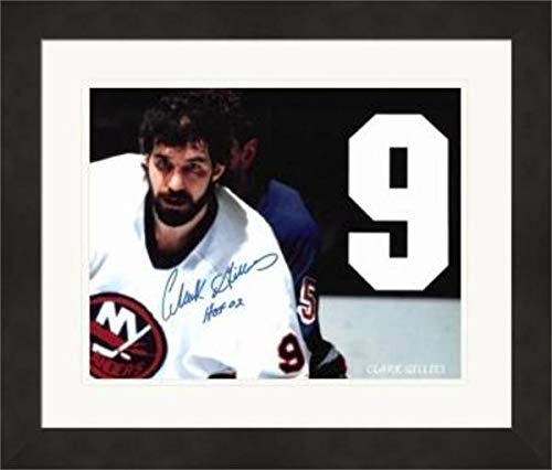 Clark Gillies Autographed Photo - 8x10 Matted & Framed - Autographed NHL Photos