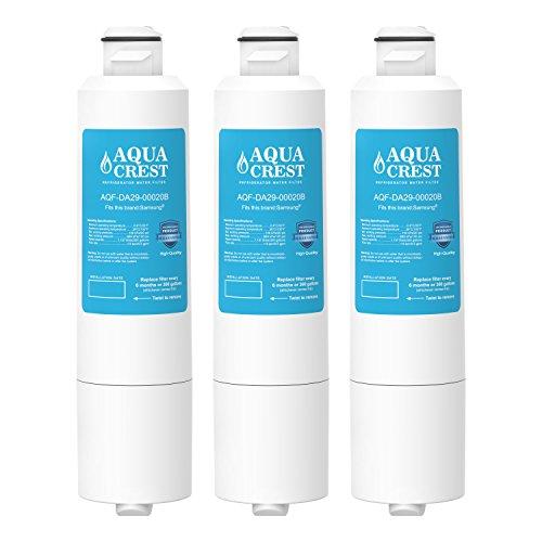3 Pack AQUACREST DA29-00020B Replacement for Samsung DA29-00020B, HAF-CIN/EXP, 46-9101 Refrigerator Water Filter