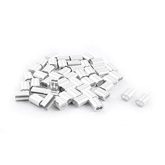 eDealMax 50 piezas de aluminio de reloj de Arena de la Manga DE 3 mm x