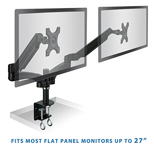 Mount It Dual Monitor Desk Mount Arm Stand Height