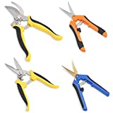 GROWNEER 4 Packs Pruning Shears Gardening Shear with Straight and...