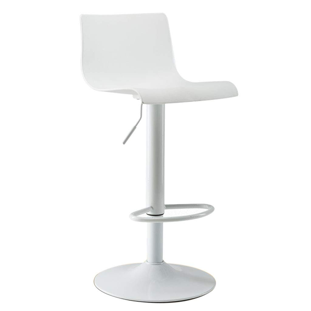 White A Mesurn Stylish Front Bar Chair, Pp Plastic Material, Electroplated Footrest, Wear-Resistant Rubber Predection Ring, Lift High Bar Stool Bar High Chair
