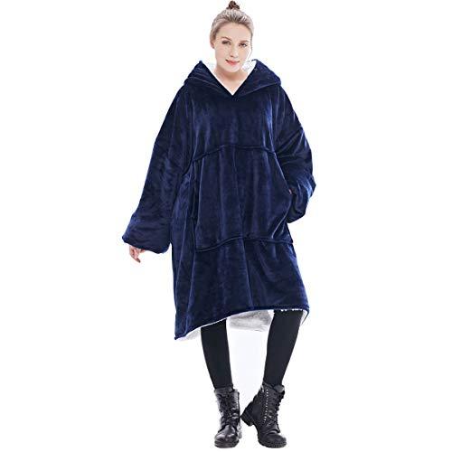Extra groot Capuchon Deken Sweatshirt,De originele Sherpa Giant Pullover met groot voorvak, zachte gezellige warme…