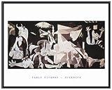 Pablo Picasso Guernica Black Metal Framed Art Print 28 x 22