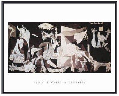Pablo Picasso Guernica Black Metal Framed Art Print 28 x 22 (Pablo Picasso Guernica)