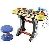 لوح مفاتيح الكتروني موسيقي اورجان متعدد الوظائف لتعليم الاطفال في سن مبكر مع هدية مايكروفون
