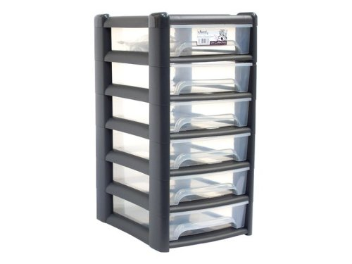 A4 plastic Drawer Unit With Six Draws