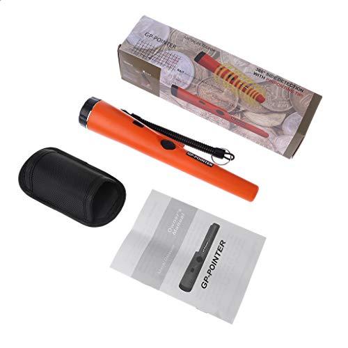 Youngy Metal Detector GP-Pointer Pinpointing Tip Probe Vibration Light Alarm w Bracelet - Orange