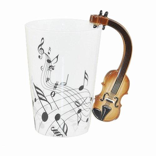 Moyishi Violin scores Notes Holds Tea Coffee Milk Ceramic Mug 300ml 1PC Best Nice ()
