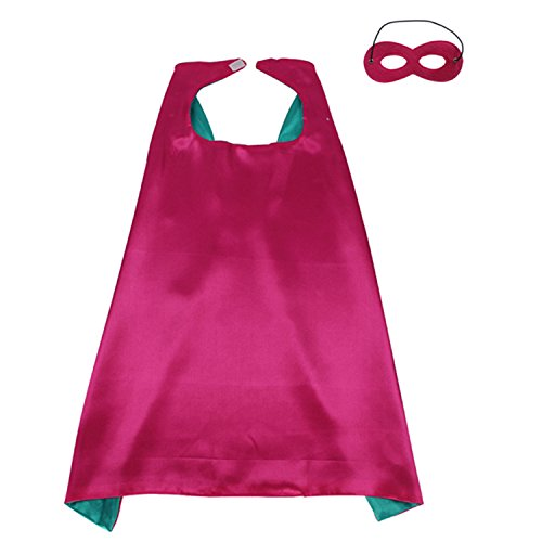 [ReachMe Superhero Dress Up Costumes Cape Mask Set Halloween Costume Party Cloak(Captain America)] (Awesome Toddler Halloween Costumes)