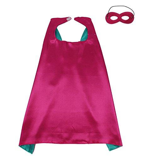 ReachMe Superhero Dress Up Costumes Cape Mask Set Halloween Costume Party Cloak(Captain America) (Captain America Toddler Girl Costume)