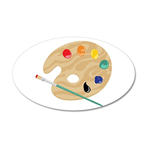 CafePress Painters Palette Decal Reusable