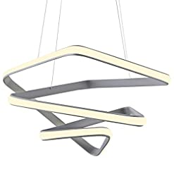 Interior Lighting Modern LED Pendant Light for Living Room Creative Hanging Light Fixture for Dining Room with Acrylic Shape Dimmable… modern ceiling light fixtures