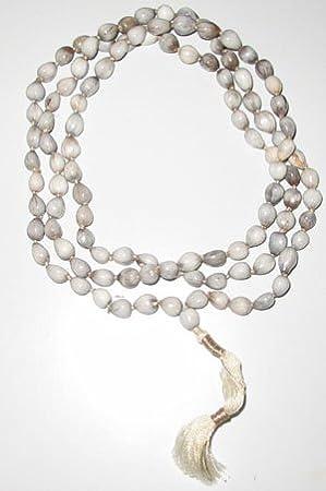 Parashara Vaijanti Mala - (White) Puja Articles at amazon