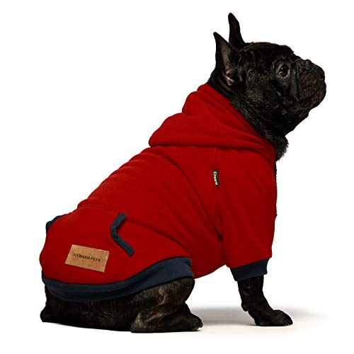 Fitwarm Casual Pet Clothes Dog Hoodies Puppy Pullover Cat Hooded Shirts Sweatshirts