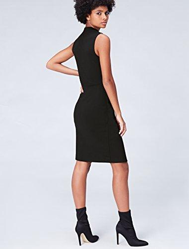 Vestido Negro Mujer Schwarz FIND para Asimétrico 6xwYqCdC