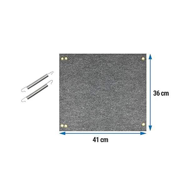 41cqlcfgeFL freizeit Fußmatte für Trittstufen Wohnwagen Wohnmobil Fußmatte, 45x40 cm, grau