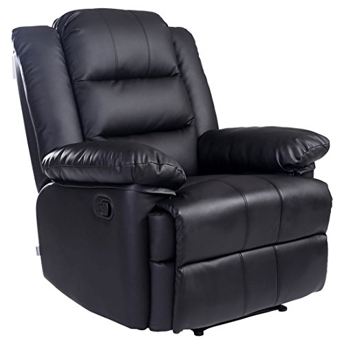 LOXLEY BONDED LEATHER RECLINER ARMCHAIR SOFA HOME LOUNGE CHAIR RECLINING...