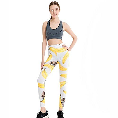 JIALELE Pantalon De Yoga Les Minces Pantalons Crayon Stamp Graphiques Crayon Mince Pantalon Stretch Yoga Le Président 050