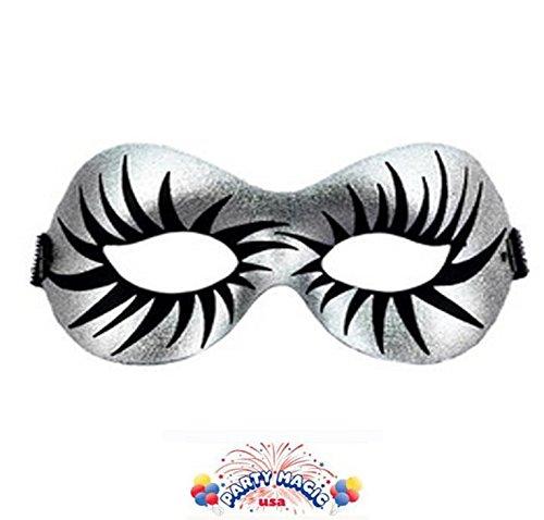 Half Mask Maquillage Silver (Maquillage Et Costume Halloween)