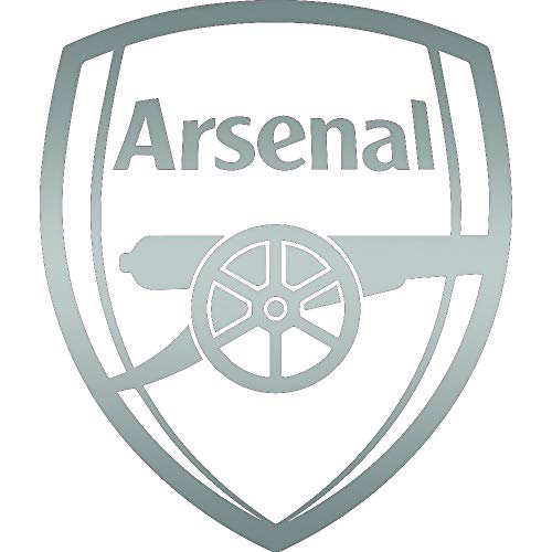 ANGDEST FC Arsenal (Metallic Silver) (Set of 2) Premium Waterproof Vinyl Decal Stickers for Laptop Phone Accessory Helmet Car Window Bumper Mug Tuber Cup Door Wall Decoration