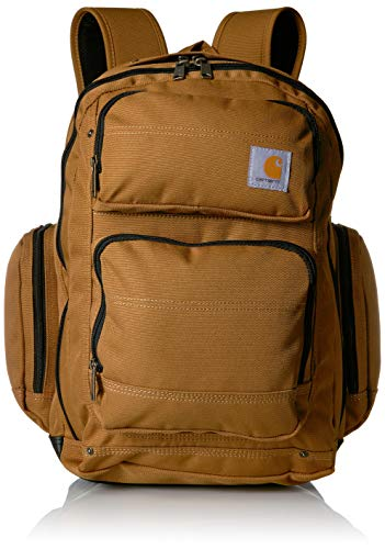 (Carhartt Legacy Deluxe Work Backpack with 17-Inch Laptop Compartment, Carhartt Brown)