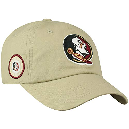 Top of the World Florida State Seminoles Official NCAA Adjustable Khaki Curved Bill Staple 4 Hat Cap 745312