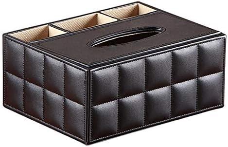 DWhui PU-Leder-Desktop-Organizer-Gewebe-Kasten-Abdeckung mit Fernbedienungshalter Papiertuch-Aufbewahrungskoffer for Home/Office/Auto/Restaurant Mini Kosmetik Container (Farbe : E)
